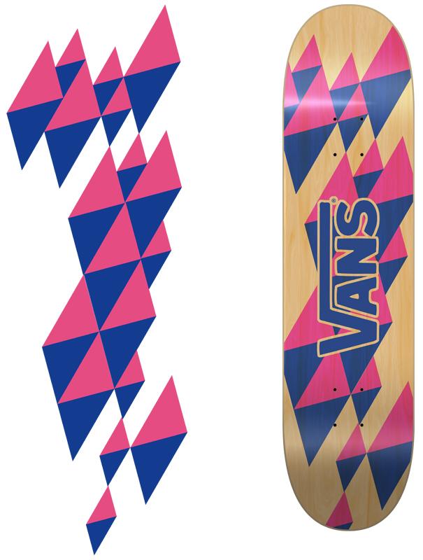 skateboard vans deck